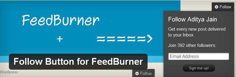 follow button for feedburner