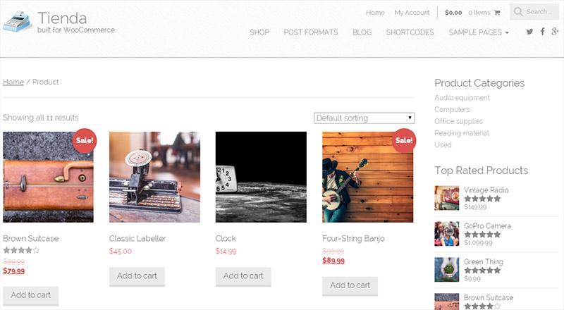 Бесплатный шаблон WordPress для интернет-магазина