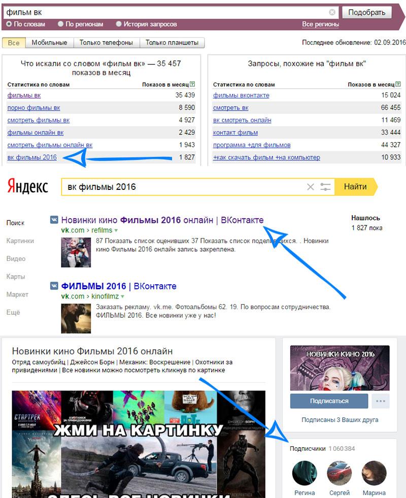 подбор правильного названия для группы вконтакте