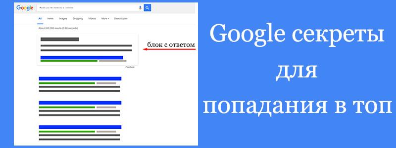Как в Google выйти на первое место по ключевым словам