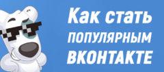 Как стать популярным ВКонтакте | Путь от серой массы до звезды